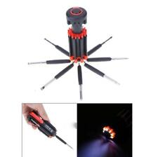 PORTABLE SCREWDRIVER 8 IN 1 LED LIGHT MULTI-FUNCTION HAND TOOL