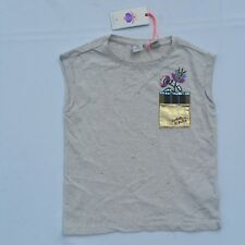 Scotch & Soda Kids Girls R Belle Size 6 Cotton Tan Gold Muscle Tee Shirt