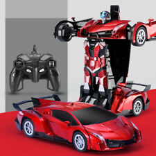 Deformed Car,Transforms into robot rambo red