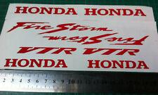 8 X GLOSS RED   FIRESTORM HONDA STYLE  VINYL DECALS