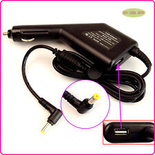 Car DC Power Adapter Charger + USB Port for Dell PP19S PP39S PP40S 10V 1018