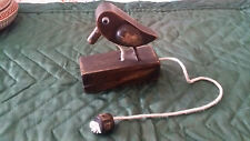 Wooden Woodpecker Toy Pull Cord And It Makes A Knocking Sound Hand Crafted
