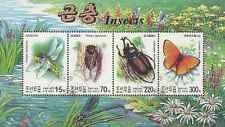 Timbres Insectes Papillons Corée 3239/42 o année 2003 lot 8930