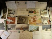LOT OF 50 + VINTAGE POSTCARDS , SCENIC USA & FOREIGN  **** 1900s and up ~