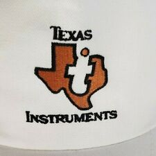 Texas Instruments White Snap Back Trucker Hat Embroidered