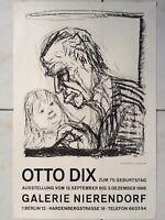 Otto Dix Kunst Ausstellungsplakat 1966