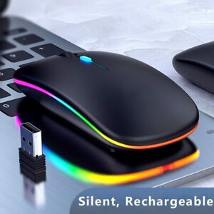 Colorful lights wireless bluetooth mouse 2.4G mouse gamer