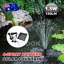 Solar Fountain Submersible Water Pump Power Panel Home Garden Pool Pond 1.5w