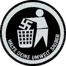 Anti Nazi Patch Aufnäher Halte deine Umwelt sauber Gegen Nazis Antifa NEU