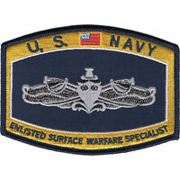 """US Navy Enlisted Surface Warfare Specialist Patch 4 1/2"""" x 3 1/4"""" Licensed"""