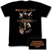 Conan What Is The Best In Life? Classic Victory Pose Officially Licensed Adult T