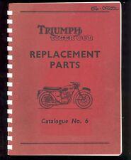 1959 TRIUMPH TIGER CUB, T20 T20C T20S MOTORCYCLE PARTS  MANUAL