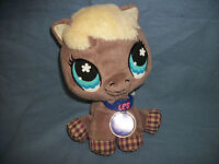 Littlest Pet Shop Hasbro LPS Plush Brown Horse / Pony with Tags 9""