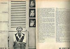 Coupure de presse Clipping  1964   SIMONE SIGNORET  (4 pages)