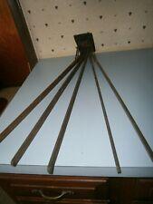 Antique Wood Slat Clothing Hanger Laundry Wall Mount Drying Rack Folding Arm Vtg