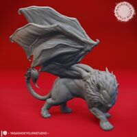Manticore - Yasashii - Monster Dungeons and Dragons 32mm Fantasy D&D Roleplay