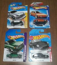 4x Hot Wheels Lot - German Cars BMW Z4 M, 2002, VW SP2, Porsche Carrera - DAMAGE