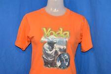 vintage 80s STAR WARS YODA LUKE SKYWALKER GLITTER IRON ON t-shirt YOUTH LARGE YL