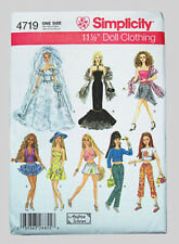 "Simplicity 4719 Pattern for Barbie 11 1/2"" doll clothes -Bridal, Summer - New!"