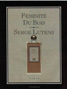 Publicité Advertising 1019 2009  parfum Féminité du bois par Serge Lutens