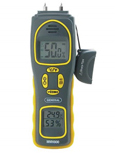 General Tools MMH800 Moisture Meter Pin Type or Pinless Temperature and Humidity