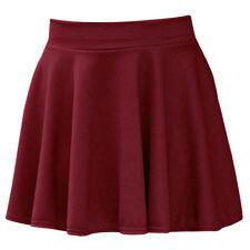 Moda Mini Falda Corta de Poliéster Hermosa Mujer Verano Fresco Cintura Alta