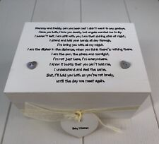 Shabby Personalised Chic Bereavement Memorial Box In Memory Of Loss Of A Baby