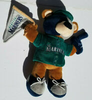 "Seattle Mariners Bear Mascot 13"" Plush Doll MLB Forever Collectibles EUC MLB"
