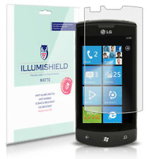 iLLumiShield Matte Screen Protector w Anti-Glare/Print 3x for LG Optimus 7