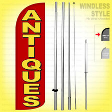 Antiques Windless Swooper Flag Kit 15 Feather Sign Rq H