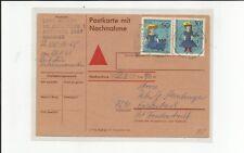 Bund / Mi.-Nr.  574 + Bln als seltene MiF auf NN-Postkarte 1969