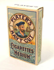 Empty Players Navy Cut 10 Cigarette Packet Tumdee 1:12 Scale Dolls House Bar