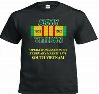 "OPERATION LAM SON 719  SOUTH VIETNAM"" VIETNAM CAMPAIGN & VINYL SHIRT/SWEAT"