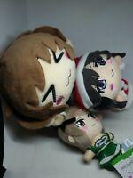 3pc Girls und and panzer plush doll figure keychain strap charm anime kawaii lot