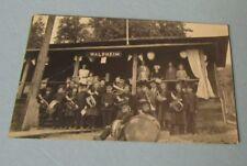 1910 Era Waldheim Children's Brass Band RPPC Real Photo Postcard Music Tuba Drum