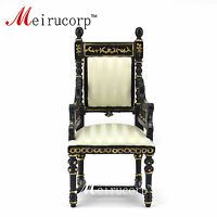 Dollhouse 1/12 scale miniature furniture Black hand painted Ornate chair
