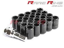 Black Tuner Wheel Nuts x 20 12x1.25 Fits Subaru Impreza Forester Legacy