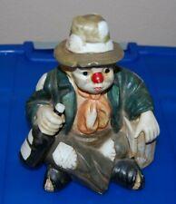 Willie Porcelain Musical Hobo Clown Vintage