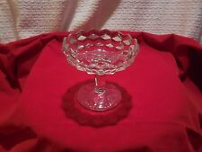 """Fostoria  Glass Co. """"American""""  4 1/2 x 4 1/2"""" Compote for Jelly (or candy)"""