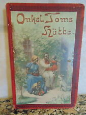 Uncle Toms Cabin Book in German Early 1900 edition Onkel Toms Hutte
