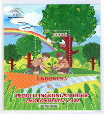 INDONESIA 2017-7 ENVIRONMENT CARE SCOUTS BOY & GIRL SS SOUVENIR SHEET STAMPS MNH