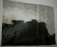 """Tri Colored Hair On Cowhide HOH Leather 10.5""""x15"""" avg 1.3mm thick #8914"""