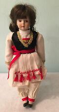 Vtg Gorham Around The World Porcelain Soft Body Greece Doll Mira Girl 1985 Rare