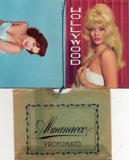 """Calendarietto da Barbiere + Astuccio, Anno 1964 - """"Hollywood"""" Pin Up"""