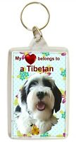 Tibetan Terrier Keyring  Dog Key Ring Tibetan Dog Gift Xmas Mothers Day Gift