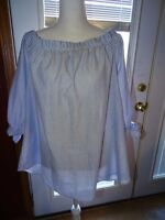 Moa Moa Plus Off-The-Shoulder Chambray Top Size 2X NWT