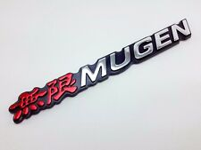 Mugen Logo 3D Red Chrome Part Car  Badge Emblem Logo For Honda Accord Civic SI