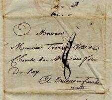 1787 Lettre de De MÜLLER à Paris à TOURNIER à Ornans problèmes financiers