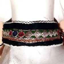 Turkmani ATS Afghani Kuchi Tribal Embroidered CHOKER 798g9