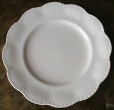 """FOUR (4) J & G MEAKIN ENGLAND PINK """"ROSA"""" SHELL EDGE DINNER PLATES"""
